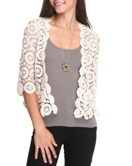 Chord - Women Cream Lace Jacket