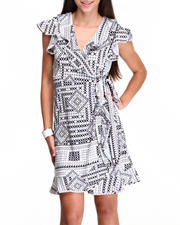 Fashion Lab - Wrap Printed dress