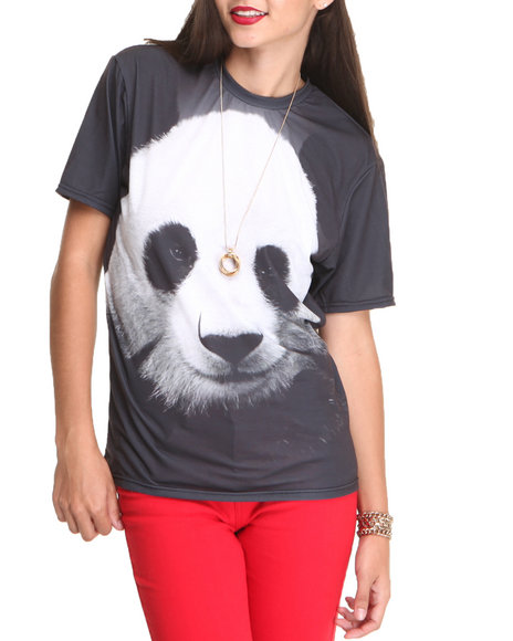 Mr. GUGU & Miss GO Black Panda Tee