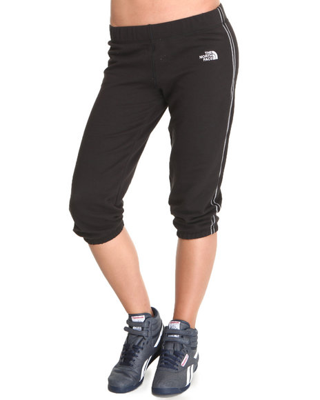 The North Face Black Logo Stretch Capri Pants