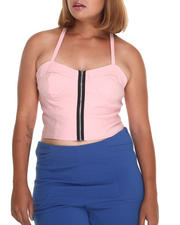 Plus Size - Vanity Halter Top w/zipper (plus)