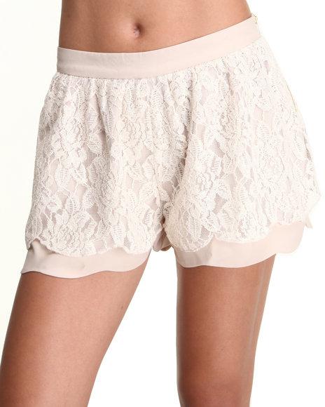 Chord Cream Lace Shorts