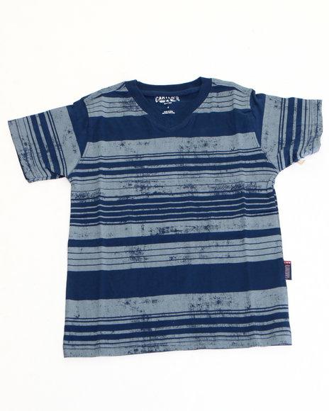 Arcade Styles - Boys Navy Printed Stripe Tee (8-20) - $5.99