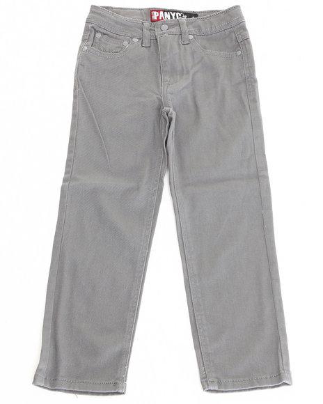Arcade Styles - Boys Grey Stretch Twill Jeans (4-7)