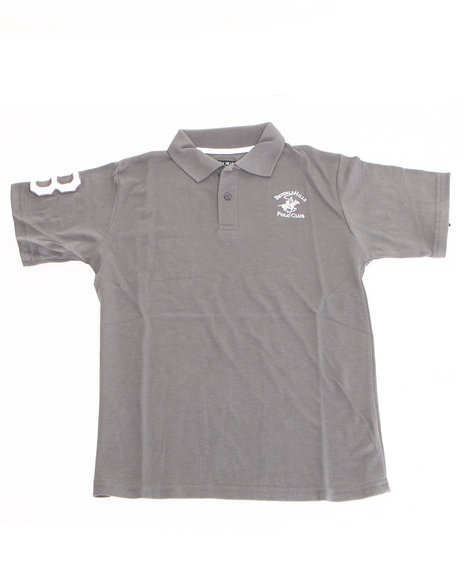 Arcade Styles Boys Solid Polo 820 Grey 1618 L