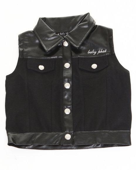 Baby Phat - Girls Black Ponte Vest (4-6X)