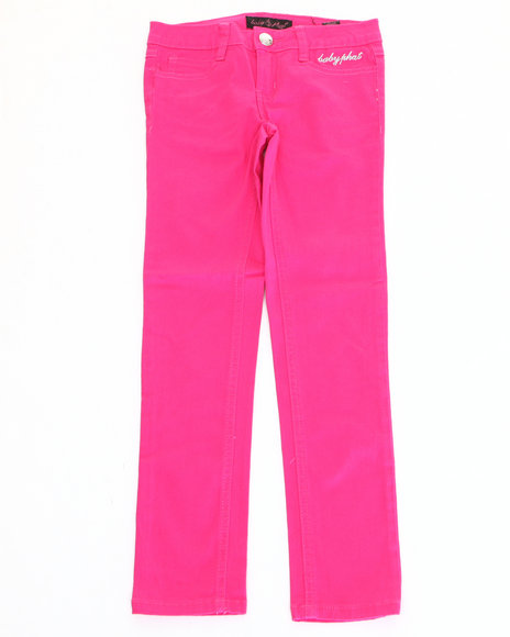 Baby Phat - Girls Pink Color Denim Jeans (2T-4T)