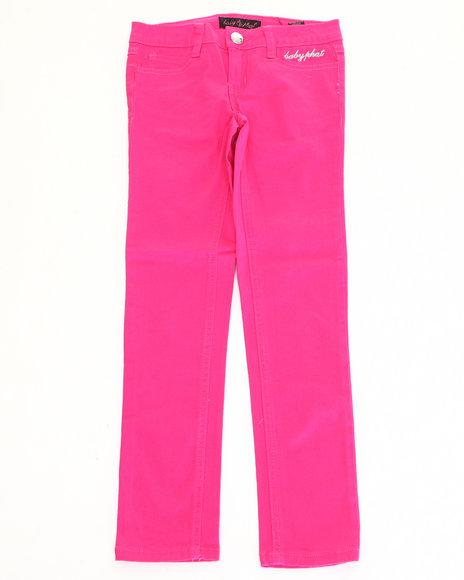 Baby Phat - Girls Pink Color Denim Jeans (7-16)