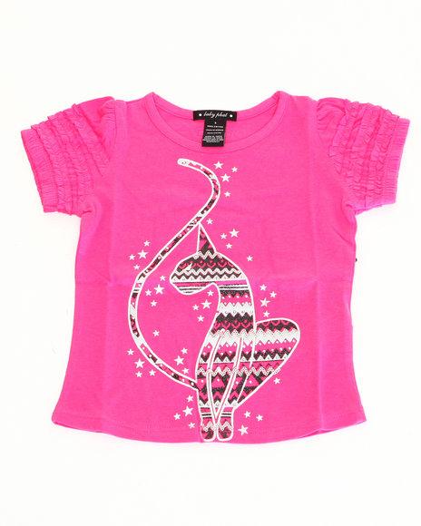 Baby Phat - Girls Pink Graphic Kitty Tee (2T-4T)