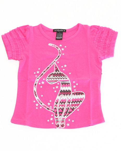 Baby Phat - Girls Pink Graphic Kitty Tee (4-6X)