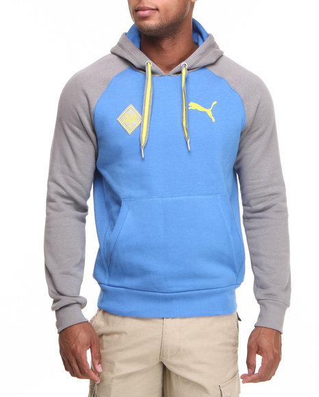 Puma Men Pullover Hoodie Blue XLarge