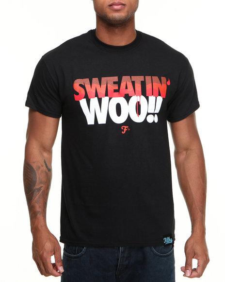 Filthy Dripped - Men Black Sweatin' Woo T-Shirt - $12.99