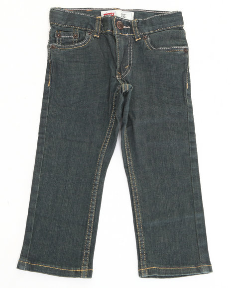 Levi's - Boys Dark Wash 511 Rinsed Playa Skinny Jeans (4-7X)