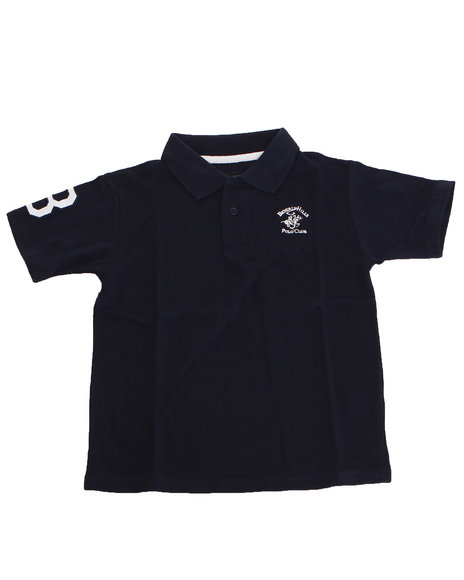 Arcade Styles Boys Solid Polo 820 Navy 1618 L