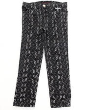 Bottoms - PRINTED TWILL JEANS (2T-4T)