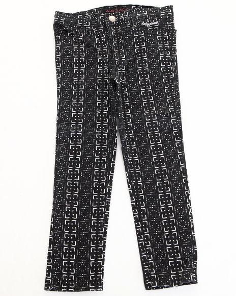Baby Phat - Girls Black Printed Twill Jeans (7-16)