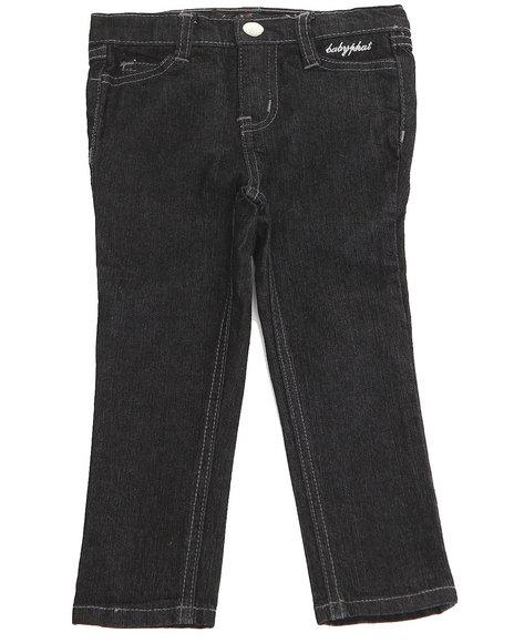 Baby Phat - Girls Black Embellished Pocket Jeans (2T-4T)