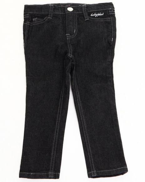 Baby Phat - Girls Black Embellished Pocket Jeans (4-6X)