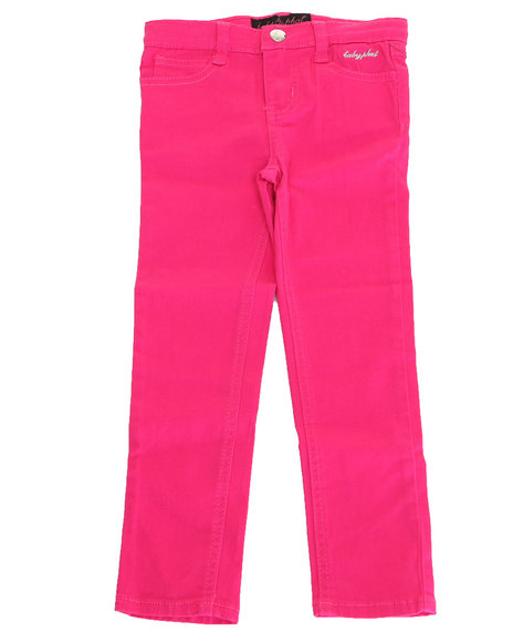 Baby Phat - Girls Pink Color Denim Jeans (4-6X)