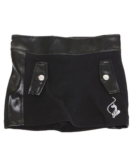 Baby Phat - Girls Black Ponte Skirt (4-6X)