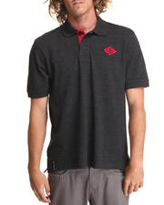 Men - Factor S/S Solid Polo w/ Collar Logo