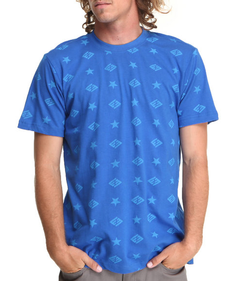 Enyce - Men Blue Jack Logo Print T-Shirt