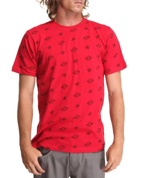 Enyce Red Jack Logo Print T-Shirt