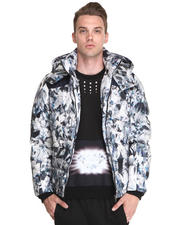 Jackets & Coats - Down Crystal/Feather Print Parka
