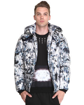 DJP OUTLET - Down Crystal/Feather Print Parka