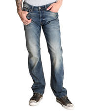 Straight - Viker Indigo with Stretch Whiskers Jean
