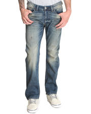 Denim - Viker Indigo with Stretch Whiskers Jean