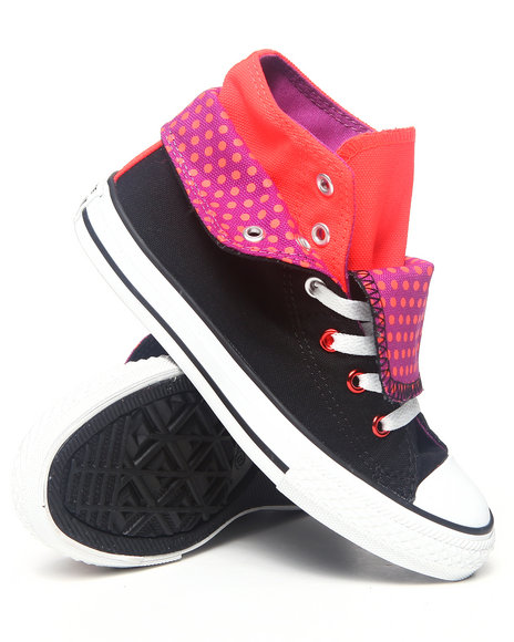 Converse Girls Black Chuck Taylor All Star Two Fold (11-3)