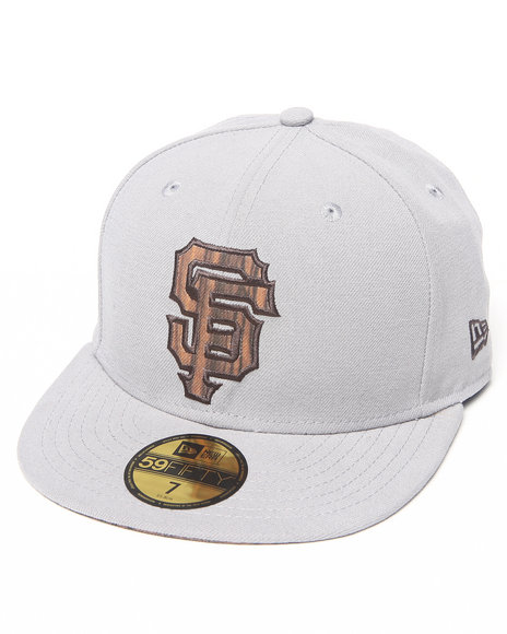 New Era Grey San Francisco Giants Nature Fill 5950 Fitted Hat