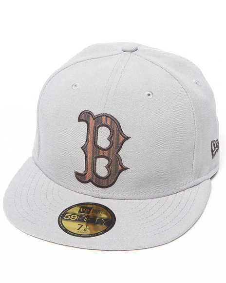 New Era - Men Grey Boston Red Sox Nature Fill 5950 Fitted Hat