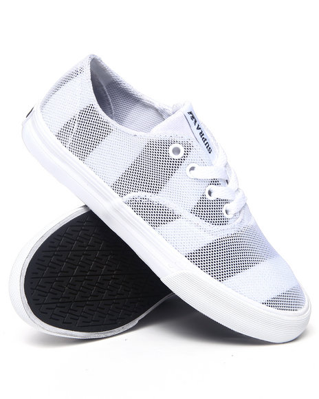 Supra Grey,White Wrap Mesh Sneakers