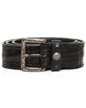 Diesel - Bispun Embossed Croco Shiny Leather Belt