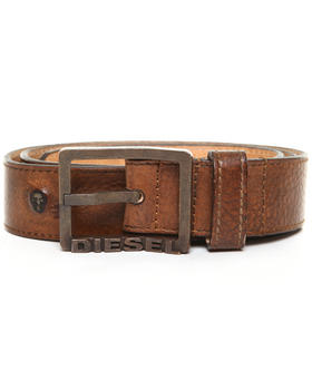 Diesel - Bicriv Soft Vintage Leather Belt w/ Star Studs