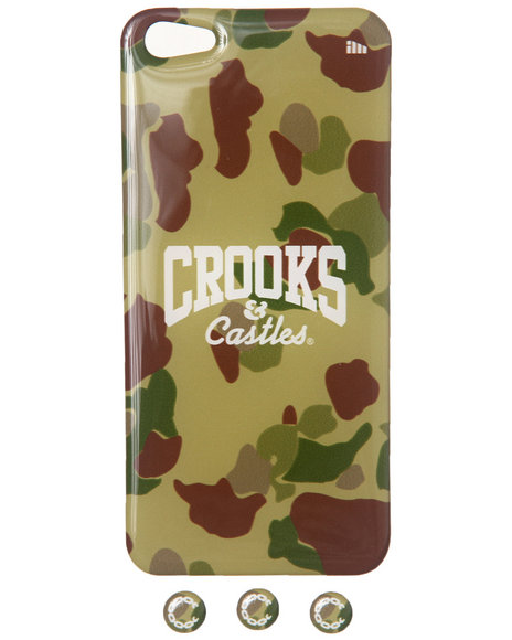 Crooks & Castles Core Logo Iphone 5 Sticker Camo