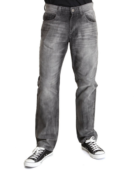 Buyers Picks - Men Grey Premium Wash Denim Jeans
