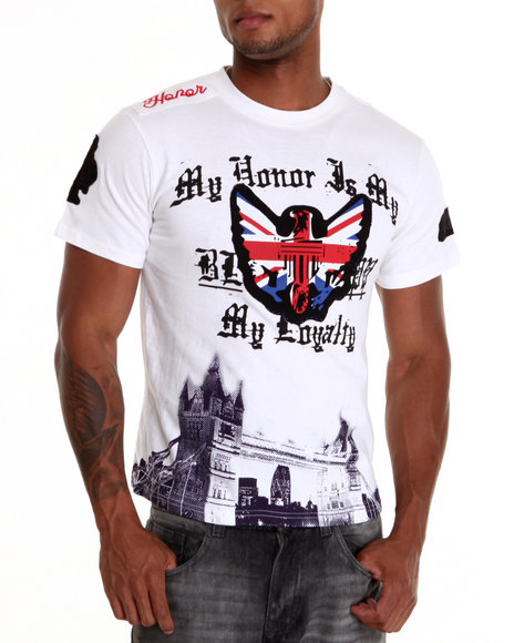Blac Label Men White Loyalty S/S Tee