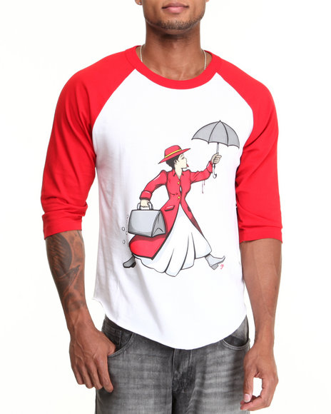 Filthy Dripped Red Molly Poppins Raglan