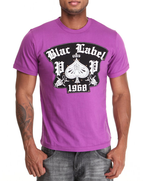 Blac Label Men Purple 1968 S/S Tee