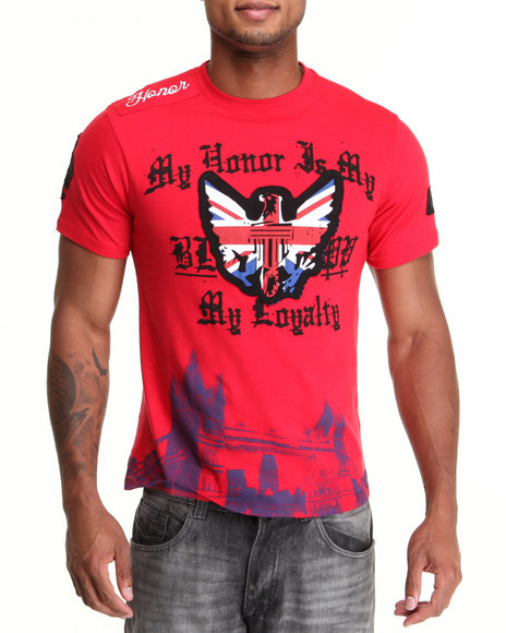 Blac Label Men Loyalty SS Tee Red Large