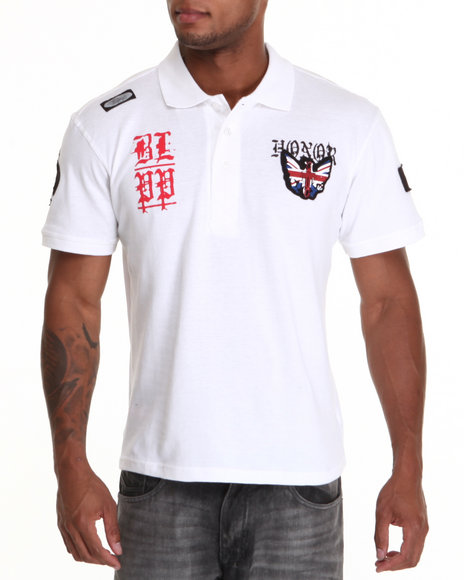 Blac Label Men White B L P P S/S Polo