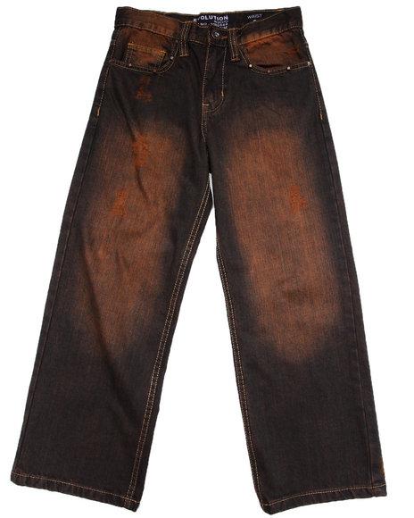 Arcade Styles Boys Dark Wash Studded Jeans (8-20)