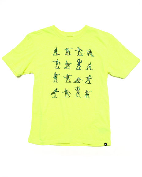 Hurley Boys Yellow Flammo Army Tee (8-20)