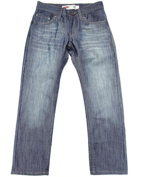 Levi's Boys Dark Wash 511 Stow Away Skinny Jeans (8-20)