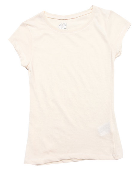 La Galleria Girls White Slub Crew Neck Tee (7-16)
