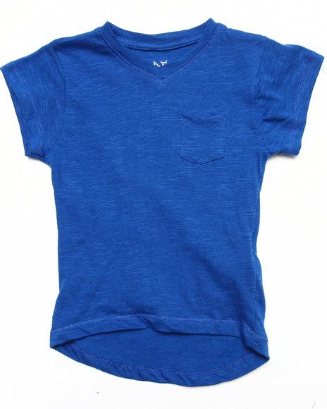 La Galleria Girls Slub VNeck Tee 46X Blue 4 S