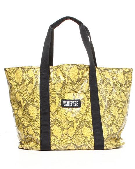 Dimepiece Women Dimepiece Snakeskin Large Utility Tote Bag Animal Print